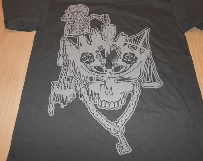 T-Shirt - Cup Runneth Over (Gray on Charcoal)
