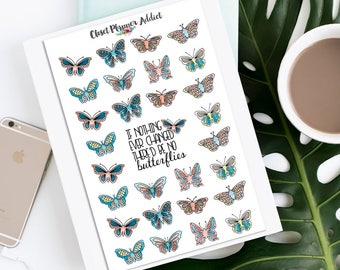 Watercolour Butterflies Planner Stickers | Mystery Grab Bag May 2017 | Butterflies Stickers | Watercolour Stickers (MGB-MAY17)
