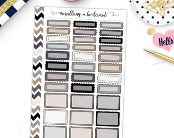 Neutral Tones Frilly Box Variety Sheet | 0428 MINI BINDER