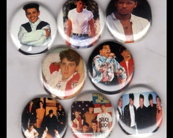 """8 Brand New 1"""" """"New Kids on the Block"""" Button Set 2"""