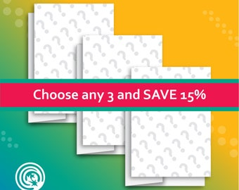 Choose any 3 Cards and Save 15%