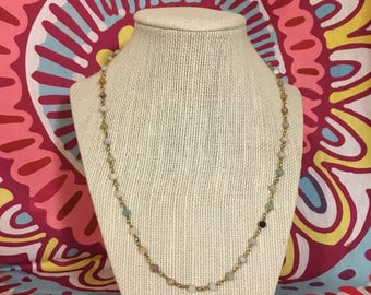 Earthstones long layering necklace