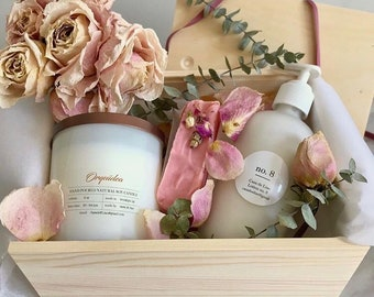 Candle and lotion set