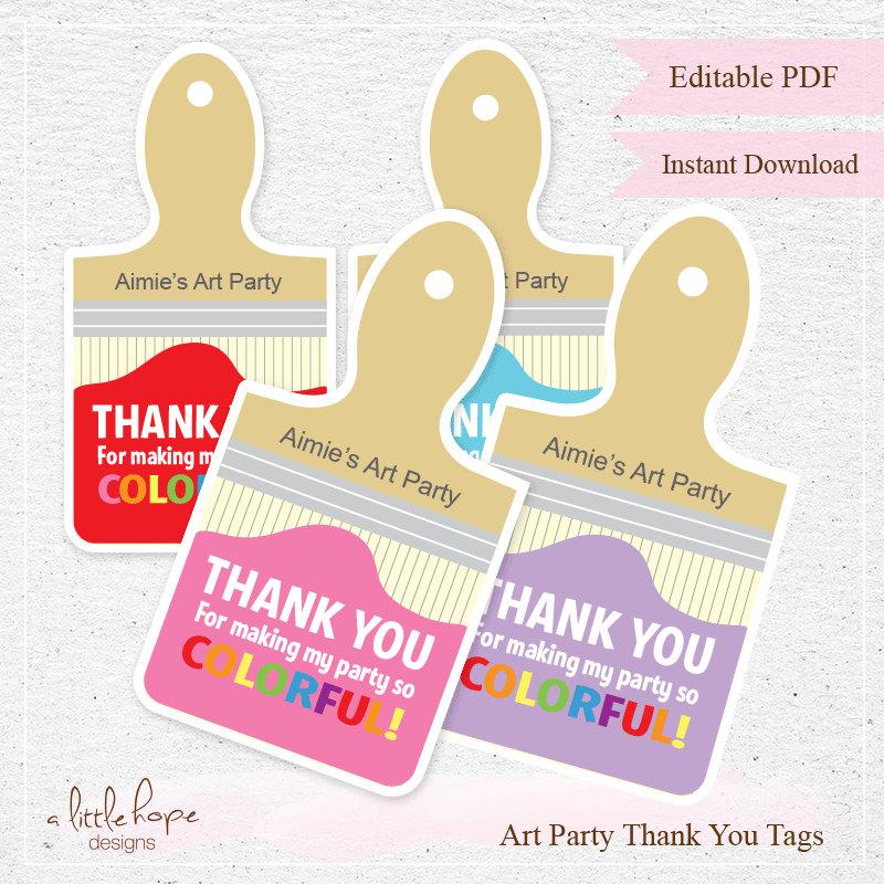 Free Printable Art Name Tags Paint Palette