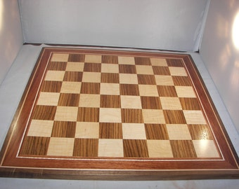 Large Handmade Wood Chess Board [100_1899]
