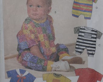 McCall's 6254 Pattern Babies' Romper One Size Infant Playwear Vintage