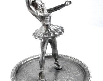 Ballerina Decor - Ornaments - Miniature - Metal Sculpture - Trinket Dish