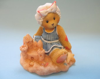 "Vintage Cherished Teddies resin Sandy "" There's Room In My Sand Castle For You"" figurine"