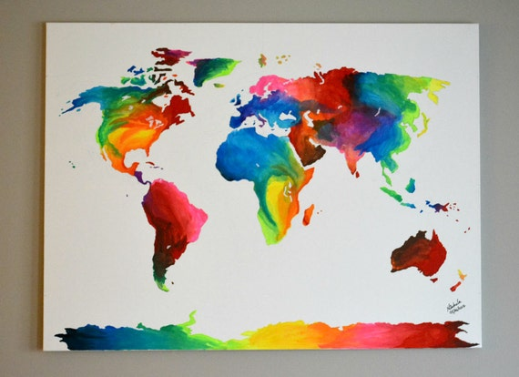 Abstract world map painting paint by number world map gumiabroncs Gallery