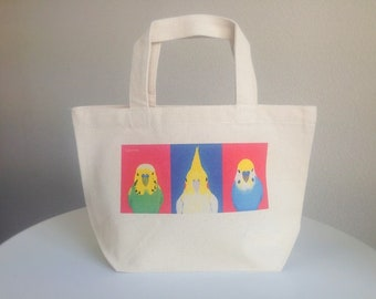 Front faces of paraleets/tote bag