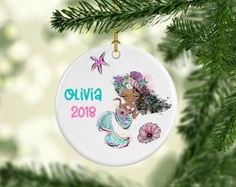 Personalized Mermaid Ornament, Mermaid Ornament, Mermaid Christmas Ornament, Personalized Christmas Ornament,Stocking Stuffer,Christmas Gift