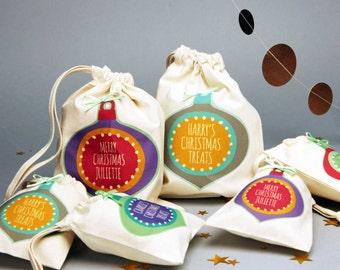 Personalised Christmas Treat Bags