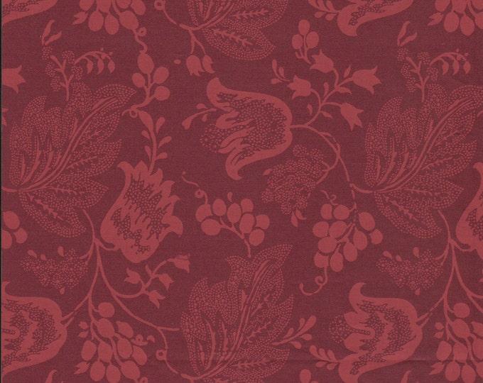 Dutch Chintz - Bordeaux Red - Ton sur Ton 1/2 yd