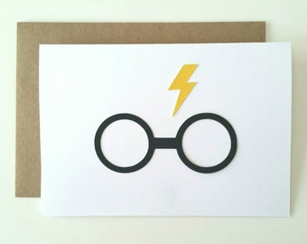 Harry Potter Glasses - A1  Folded Blank Greeting Card