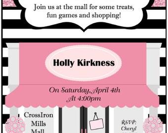 Mall Birthday Party Invitation