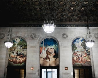 Detroit Photography - Detroit Public Library Mural