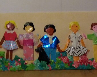 Origami Kids Fairy Paper paintings