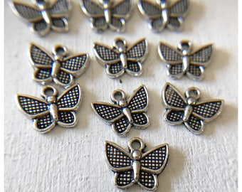 10pc Butterfly  Charm/ Insect Charm / Spring