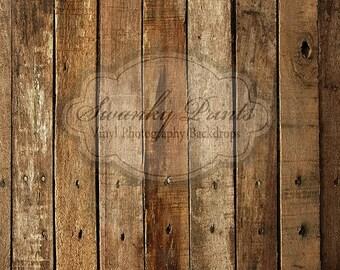 6ft x 6ft Vinyl Photography Backdrop /  Western Wood / Custom Photo Prop