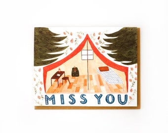 Miss You Pup Tent Card