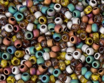 Toho 8/0 Earthen Seed Bead Mix 3491, Exclusive to SupplyEmporium, Earthen 8/0 Toho Seed Bead Mix, 16 grams