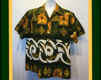 Vintage 1960s Hawaiian shirt size x large