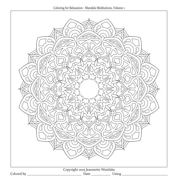 Mandala Meditations coloring pages Heaven and Earth