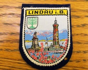 Vintage Lindau i B Travel Patch
