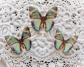 Reneabouquets Butterfly Set - Into The Mystic Premium Paper Glitter Glass Butterflies