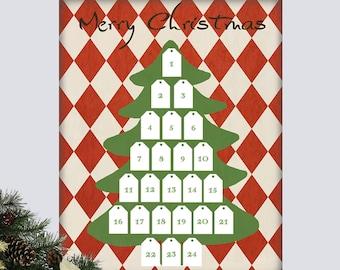 Christmas Tree Advent Calendar, Advent Calendar Christmas Tree, Christmas Tree, Christmas Advent Calendar, DIY Christmas Advent Calendar,
