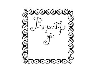 CLEARANCE calligraphy Property of Stamp