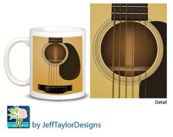 Acoustic Guitar Instument Coffee Mug