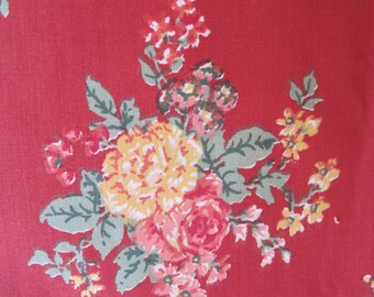 "Home Decor Fabric French Extra Wide Red Yellow Pink Green Blue 2 7/8 Yrds x 92"" wide Duvet Cover"