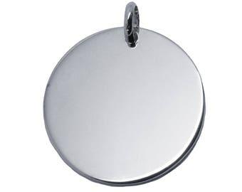 Large 27 mm sterling silver medal