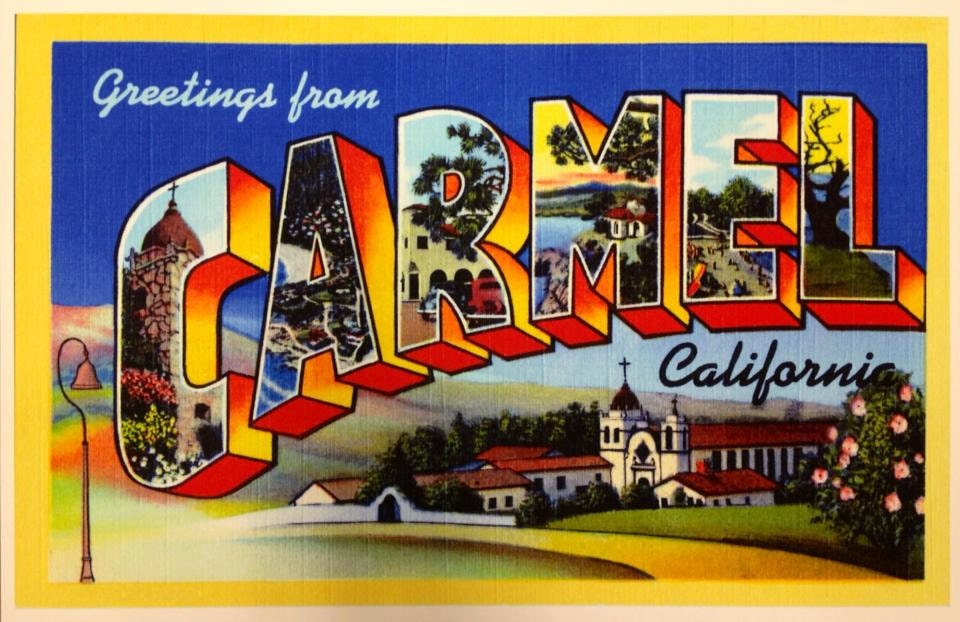 Large 18x12 Carmel By The Sea Travel Poster Exclusive