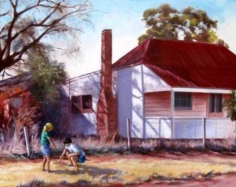 Jung und alt vom australischen Künstler Bev Gribble