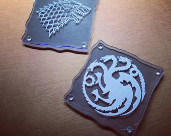 """Game of Thrones Inspired """"Locked in Ice"""" Coaster Set"""