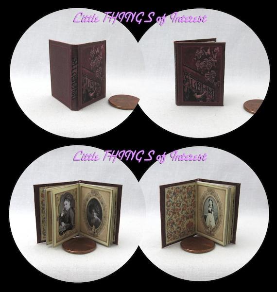 VINTAGE PHOTO ALBUM 1:6 Scale Book Miniature Book Play Scale Victorian Picture 6th Scale