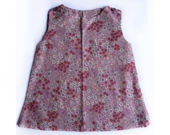 Handmade kids tunic cotton pinafore dress