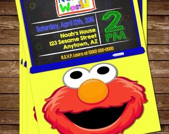 Elmo Invitation, Elmo Invite, Elmo Birthday