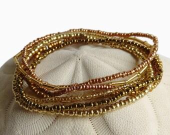 Stretch bracelet, seed bead bracelet, bohemian jewelry, minimalist bracelet, friendship bracelet, bridesmaid gift, stack bracelet, boho chic