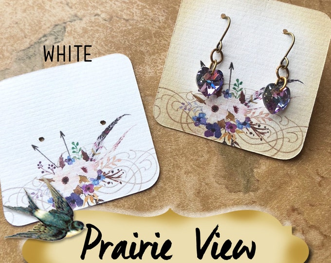 60•PRAIRIE VIEW•Necklace Card•Earring Cards•Jewelry Cards•Display Card•Display•Earring Holder•Necklace Holder•2x2 or 3x3