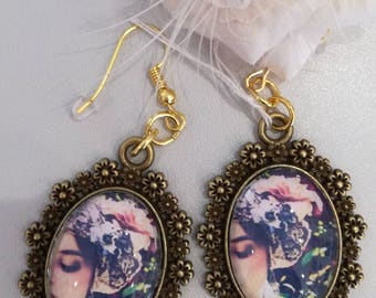 """Romantic retro"" earrings"