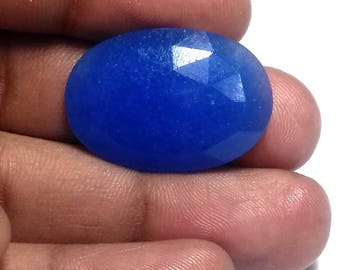 100% Natural Blue Faceted  Onyx Gemstone AAA++ High Quality Gemstone In a Very Low Price ,25.00 Carat ,Oval Shape,Size 21X31X5 MM,Code AZ313