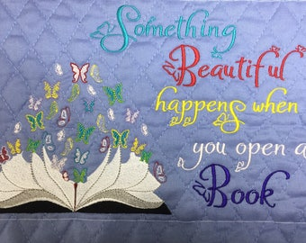 Butterfly Book Embroidery Design