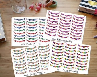 Colourfull flags party banner stickers (BB01 BB02 BB03 BB04)