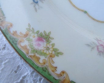 Four (4) Vintage Hand Painted Japan Meito China Dinner Plates