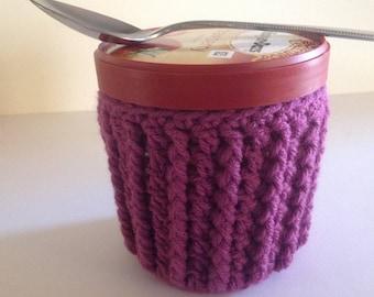 Ice Cream Cozy - Crochet - Plum
