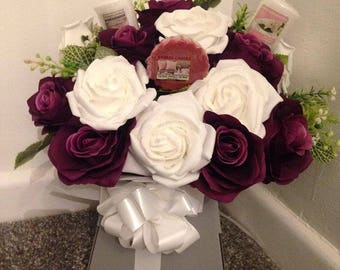 Handmade Yankee Candle Flower Bouquet