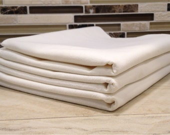 "Set of 3 Blank Flour Sack DIshtowels (30""x30"", 100% cotton)"